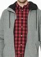 Jack & Jones Kapüşonlu Fermuarlı Sweatshirt Gri